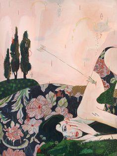 Flechas y lágrimas en las pinturas de Alexandra Levasseur