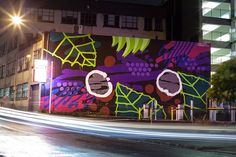 Our friend Askew One is back in his homeland of New-Zealand where he just finished working on a brand new mural on the streets of Auckland. Contemporary Paintings, Chalk Art, Street Art News, Wall Art Designs, Painting, Art, Graffiti Art, Kinder Art, Love Art
