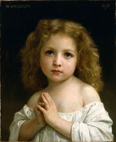 """Little Girl"" by William Bouguereau, 1878."