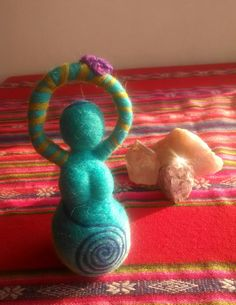 Diosa wicca de fieltro con aguja Godess wicca needlefelt.