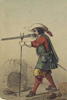 Spanish musketeer, about1650. Source: Vinkhuijzen Collection, New York Public Library