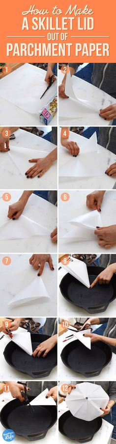 make a lid out of parchment paper, which will trap most (but not all) of the steam and gently cook your food