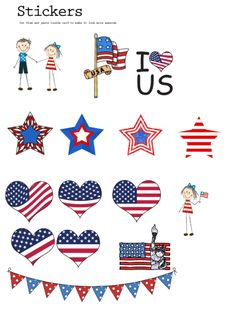 Whether you're creating the best ever Independence Day scrapbook page, decorating for a party or making crafts, these free and printable 4th of July stickers are the perfect addition to your project!