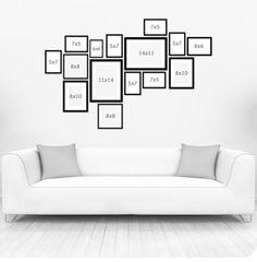 Frame arrangement Frame arrangement The post Frame arrangement appeared first on Fotowand ideen. Bedroom Frames, Gallery Wall Bedroom, Gallery Wall Layout, Gallery Wall Frames, Frames On Wall, Photo Frame Layout, Gallery Walls, Wall Collage, Art Gallery