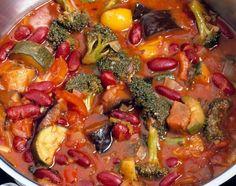 Easy Vegan Crockpot Vegetable Chili (Vegan, Gluten-free). I made this for Cornell's Halloween party.