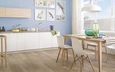 aranzacja kuchnia plytki drewnopodobne maloe ceramika paradyz