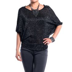 Sparkle Batwing Top