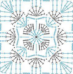 Ideas Crochet Heart Granny Square Pattern For 2019 Grannies Crochet, Bag Crochet, Crochet Motifs, Granny Square Crochet Pattern, Crochet Stitches Patterns, Crochet Diagram, Crochet Squares, Crochet Chart, Crochet Designs