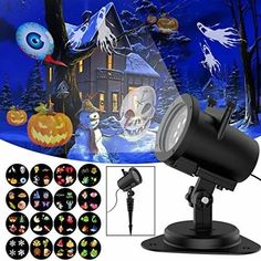 TSSS RGB Insert Gobo Card Projector Stage Light for Halloween Christmas Party Ha
