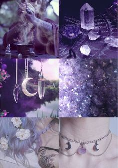 ideas dark art fantasy witchcraft wicca for 2019 Witch Aesthetic, Aesthetic Collage, Purple Aesthetic, Crystal Aesthetic, Aesthetic Images, Character Aesthetic, Aesthetic Fashion, Wiccan, Magick