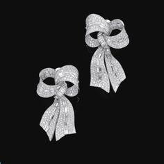 Pair of diamond ear clips, Bulgari | Lot | Sotheby's