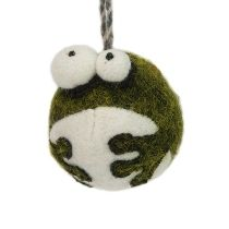 felted frog ornament