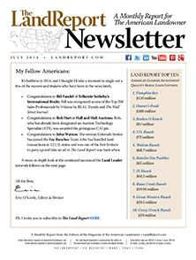 From industry updates to the farm bill to the Keystone XL pipeline, there's a lot to catch up on in our July newsletter! Download your free copy today for up-to-the-minute reports on listings, auctions, sales, and breaking news pertaining to #land and landowners today.