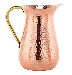 Handmade Copper Jug, Pure Copper Pitcher, 100% Copper - 1.5 Liters