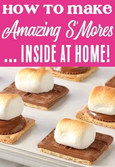 Easy Desserts with Few Ingredients! Dessert Recipes don't need to be difficult... the just need to test delicious and deliver that WOW factor! This easy Sheet Pan S'mores Recipe will have you baking up perfect toasty s'mores in your oven… in less than 5 minutes! Go grab the recipe and give them a try this week! Graham Cracker Recipes, Homemade Graham Crackers, Easy Desserts, Delicious Desserts, Dessert Recipes, Summer Food, Winter Food, Winter Recipes, Summer Recipes