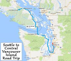 Seattle to Vancouver Island Road Trip Itinerary Cascade Park, Richmond Surrey, Oak Harbor, Port Angeles, Vancouver Island, Seattle, National Parks, Road Trip, Travel