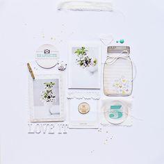 Love it - monochrome layout by Magda Mizera