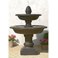 Belvedere Tiered Garden Water Fountain