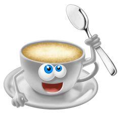 smiley with coffee Best Coffee, My Coffee, Coffee Drinks, Coffee Cups, Coffee Heart, Coffee Is Life, Coffee Humor, Coffee Quotes, Food Png