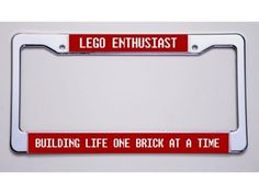 Take your love of LEGO outside the toy room with a personalized license plate!