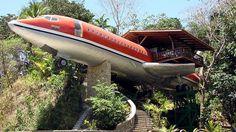 Ausgefallene Übernachtungsmöglichkeit - ein ehemaliger Passagierjet!