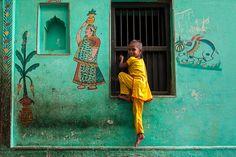 Green, Varanasi by Marji Lang on Flickr.