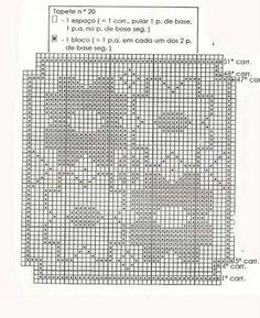 tapetes de croche com gráficos para imprimir - Buscar con Google Crochet Table Runner, Crochet Tablecloth, Irish Lace, Filet Crochet, Crochet Patterns, Cross Stitch, Diagram, Knitting, Tablecloths