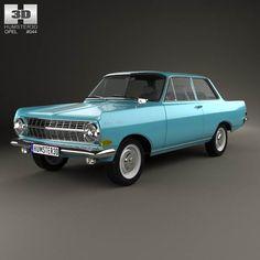 Opel Rekord (A) 2-door sedan 1963 3d model from humster3d.com. Price: $75