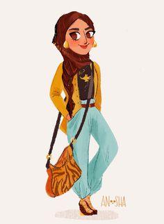 Fan Art Friday #74 – Modern Disney Princesses by Anoosha Syed | Nerdist