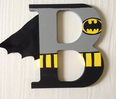 ArtsyAutly produces custom designed hand painted crafts that will be cherished for years to come! by ArtsyAutly - Batman Decoration - Ideas of Batman Decoration - Batman Superhero Wooden Letter Wall Decor Superhero Letters, Diy Letters, Letter A Crafts, Painted Letters, Wood Letters, Batman Superhero, Decorated Letters, Hand Painted, Batman Birthday