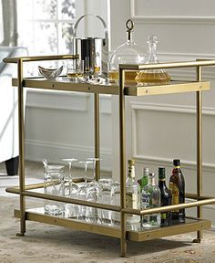 Vitale Bar Cart - furniture - Macy's -Many uses- great for brunch, displaying dishes, any sort of hospitality!