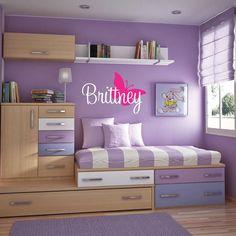 brilliant children's room idea but with boy colors!