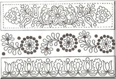 Hungarian Embroidery, Folk Embroidery, Learn Embroidery, Embroidery Patterns, Machine Embroidery, Chain Stitch, Cross Stitch, Bordados E Cia, Antique Quilts