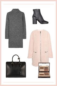 The Feminine Teddy Topper Nothing says cozy like a long, fuzzy coat, but instead of the black variety, go for a baby pink to really brighten up a gray day. The timeless silhouette will help get you through many winters to come.