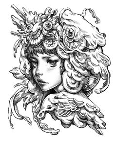 Inner Bloom Practicing Before The Storm Sketch Lineart Study Practice