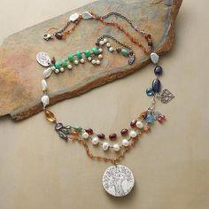 Jes MaHarry Sterling Silver & Gemstone Necklace   Robert Redford's Sundance Catalog