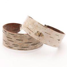 Birch bark cuff bracelet The Small by bettula on Etsy