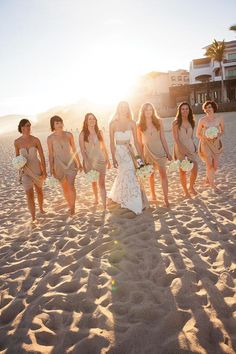 Beach Wedding Photos Mexico Beach Wedding in Cabo San Lucas - We found the most romantic Mexico wedding venues, hotels and resorts for your big day. Here's where to stage your fiesta. Tea Length Bridesmaid Dresses, Beach Bridesmaid Dresses, Beautiful Bridesmaid Dresses, Beach Dresses, Beach Wedding Bridesmaids, Beach Wedding Photos, Beach Wedding Photography, Beach Pics, Dream Wedding