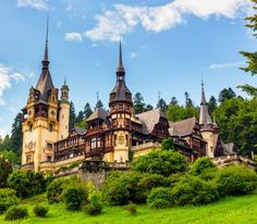 Peleş Palace (Romania) - Peles castle is actually a palace. A palace with 30 bathrooms and 4,000 pieces of armoury. Together with 2,000 pieces of art and the garden it is a must see. More unique travel inspiration in Europe can be found on a map on www.mapiac.com !