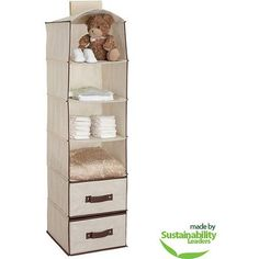 Delta 6-Shelf Hanging Storage Unit with 2 Drawers, Choose Your Color