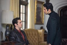 """Tommy DeVito (Vincent Piazza) and Frankie Valli (John Lloyd Young) argue their points in """"Jersey Boys."""""""