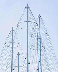 Architecture - Modern design : Copenhagen bridge by Olafur Eliasson is designed to resemble ship masts - Dear Art Modern Buildings, Beautiful Buildings, Modern Architecture, Urban Design, Modern Design, Ship Mast, Studio Olafur Eliasson, Bridge Design, Public Art