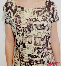 Camiseta Rock'n'roll Sepia - CherryGumStore