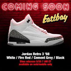 cheap for discount 818ad 0b8da Jordan Retro 3 88 Eastbay