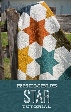 Learn to make the Rhombus Star With Jenny!   The Cutting Table Quilt Blog   Bloglovin'
