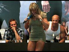 Paul Walker and Vin Diesel.... look at their faces!