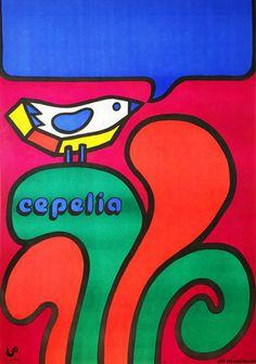 Cepelia Retro Poster, Vintage Posters, Vintage Movies, Vintage Art, Polish Posters, Summer Poster, Kunst Poster, Original Movie Posters, Advertising Poster