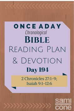 Once A Day Bible Reading Plan & Devotion Day 194