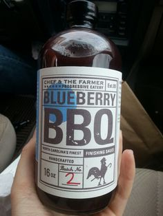 Chef & The Farmer blueberry bbq sauce. Kinston specialty. So good!