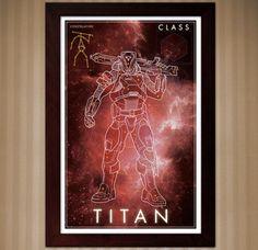 Destiny: Titan Class - Constellation Poster - 11x17 by KnerdKraft on Etsy